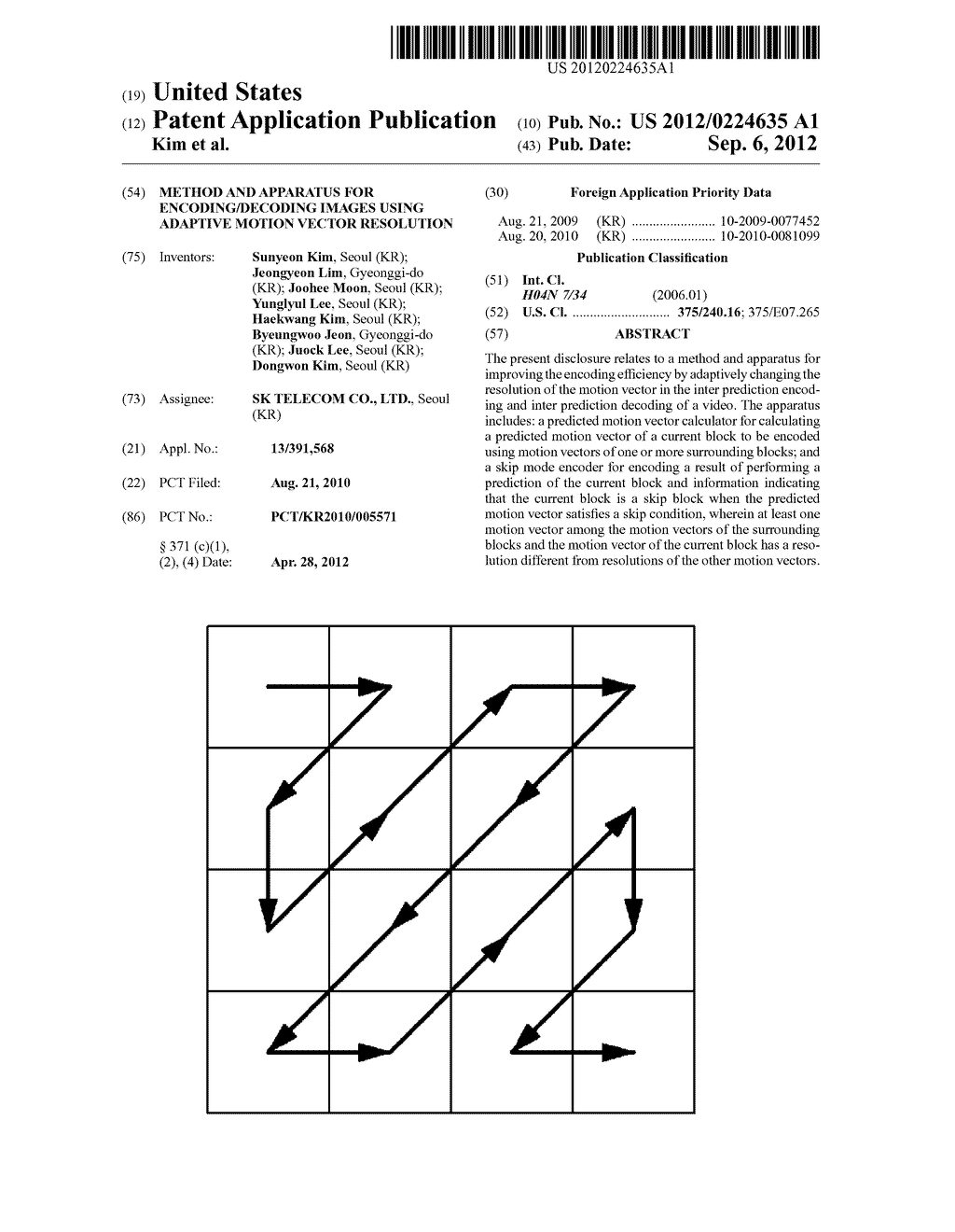 METHOD AND APPARATUS FOR ENCODING/DECODING IMAGES USING ADAPTIVE MOTION     VECTOR RESOLUTION - diagram, schematic, and image 01