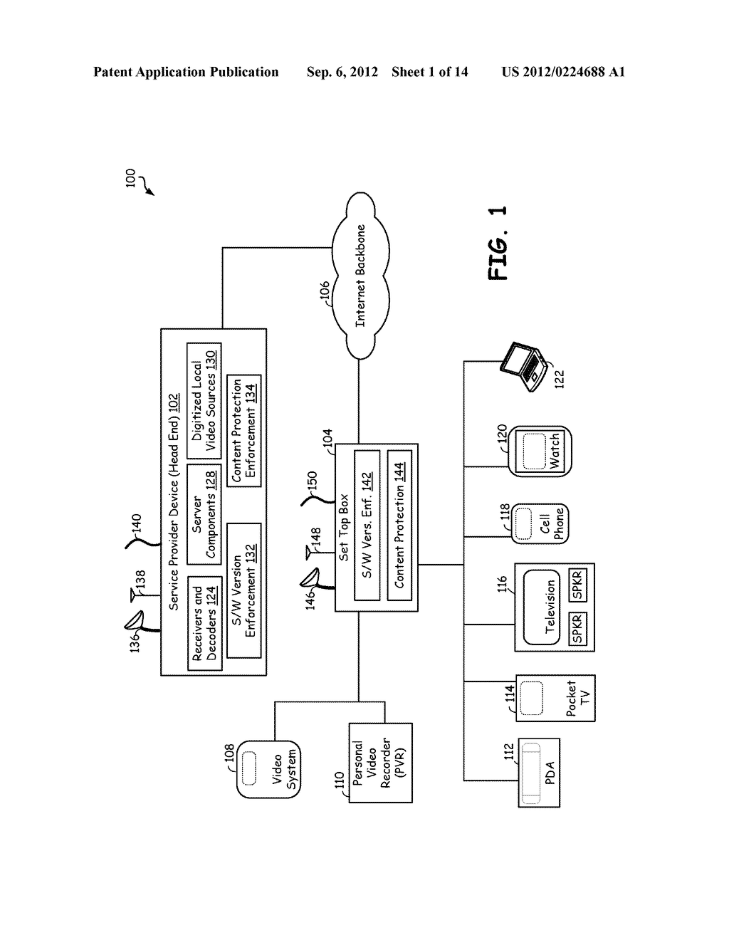 ENFORCING SOFTWARE INDEPENDENT CONTENT PROTECTION IN AN ELECTRONIC DEVICE - diagram, schematic, and image 02