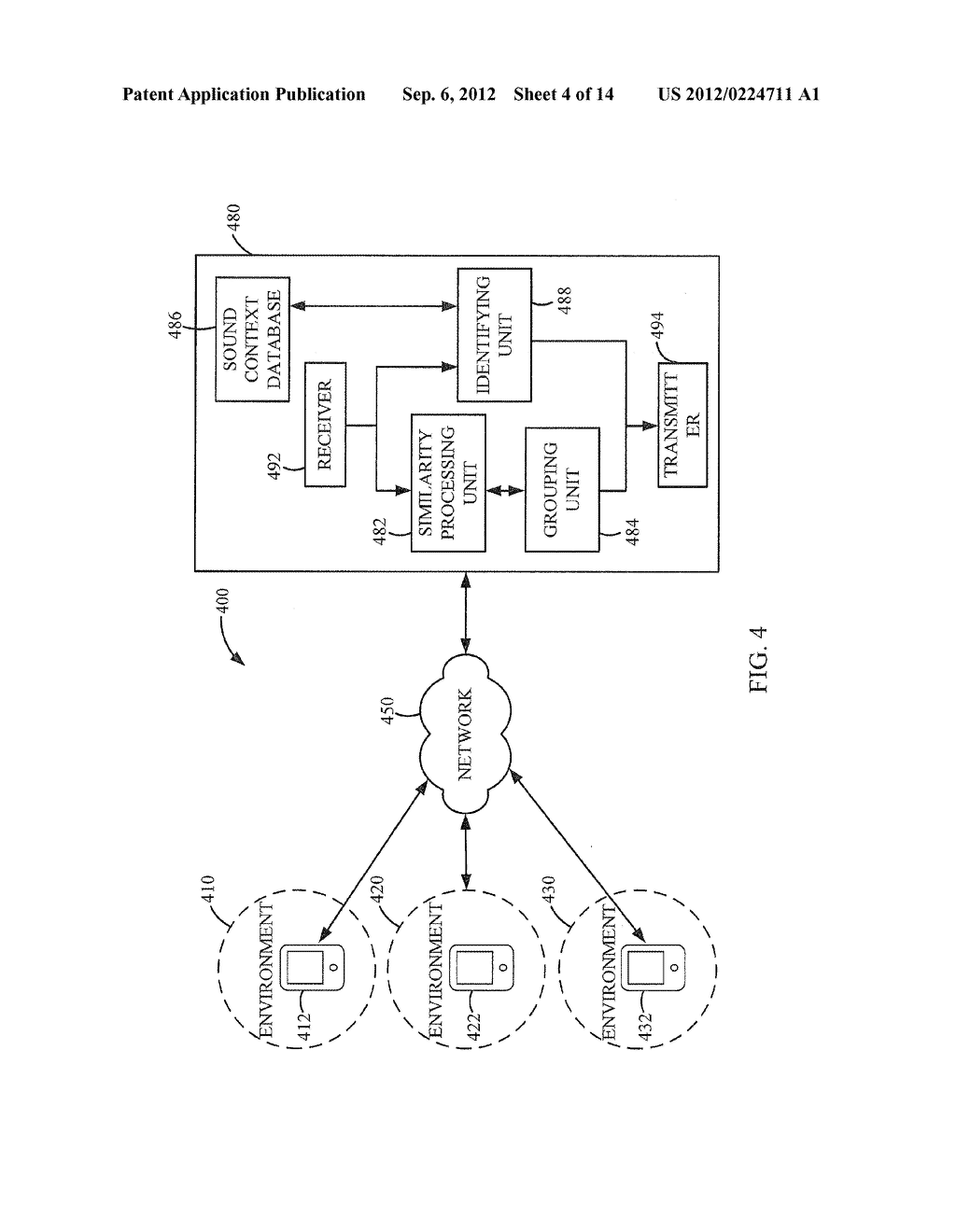 METHOD AND APPARATUS FOR GROUPING CLIENT DEVICES BASED ON CONTEXT     SIMILARITY - diagram, schematic, and image 05