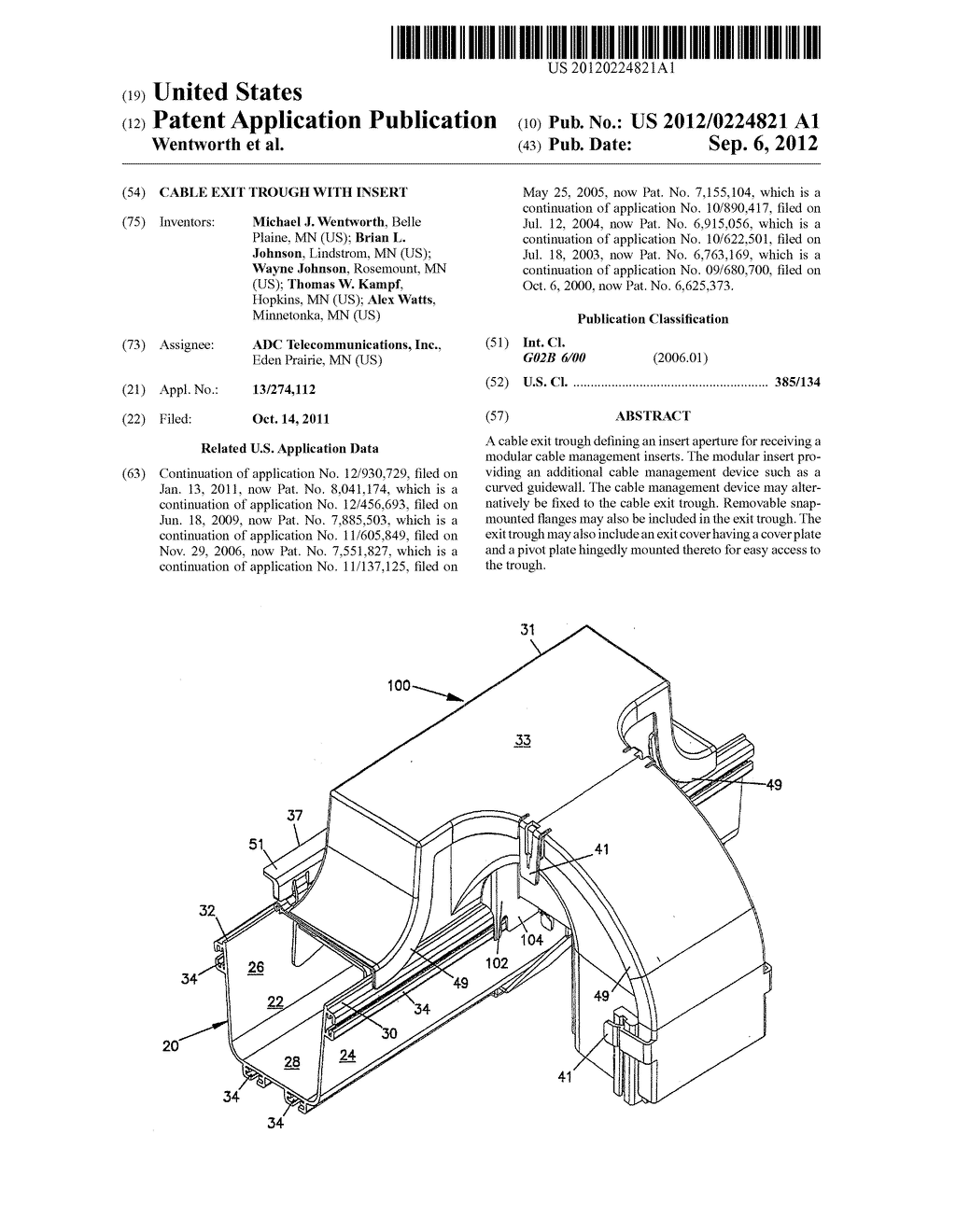 CABLE EXIT TROUGH WITH INSERT - diagram, schematic, and image 01