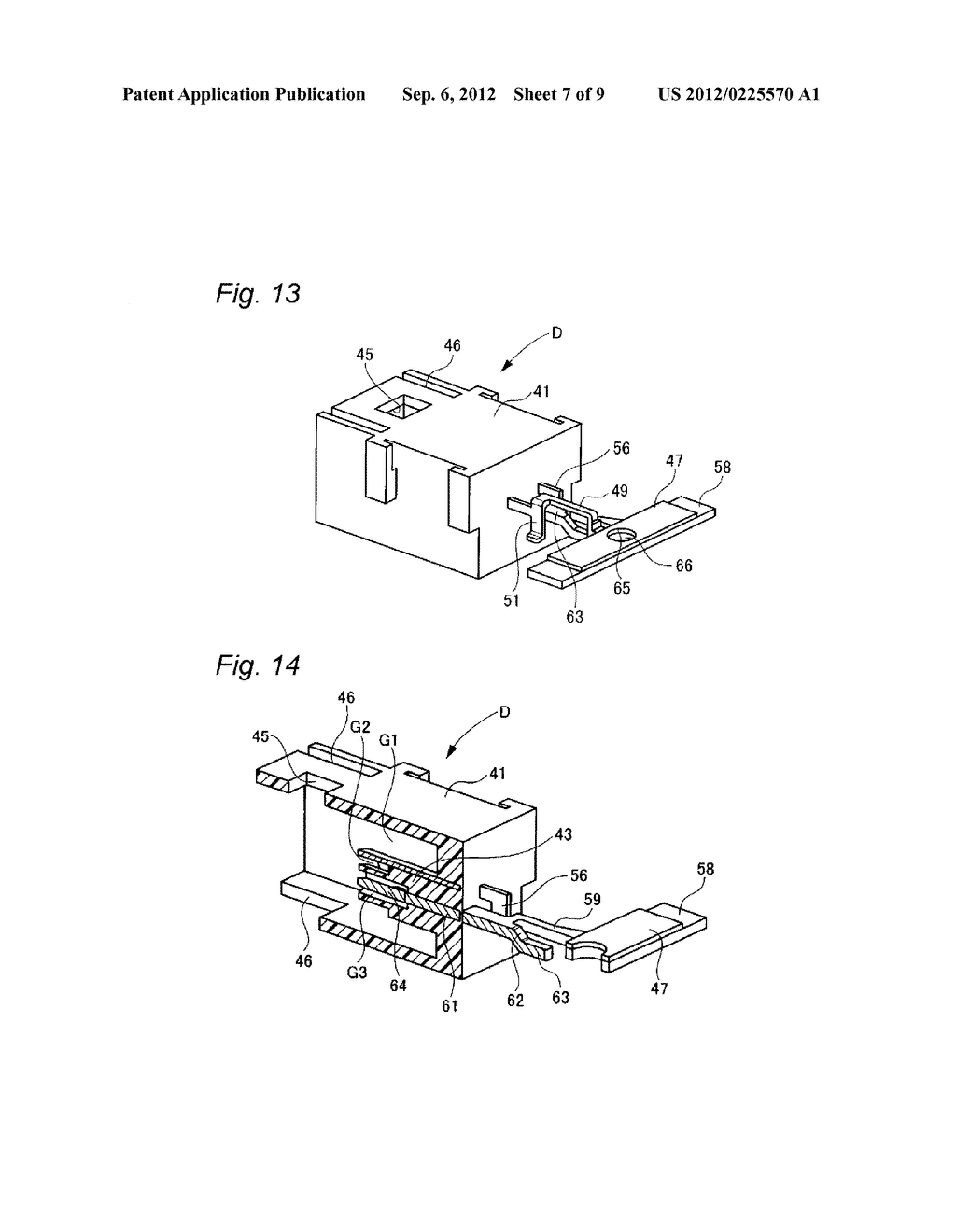 COAXIAL CONNECTOR FOR BOARD, PAIR OF CHAIN TERMINALS AND METHOD OF     MANUFACTURING COAXIAL CONNECTOR FOR BOARD - diagram, schematic, and image 08