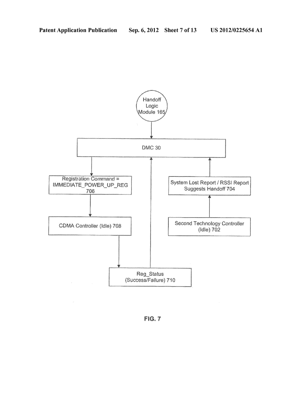 SYSTEM AND METHOD OF CONTROLLING REGISTRATION ON A MULTI-TECHNOLOGY     HANDSET - diagram, schematic, and image 08