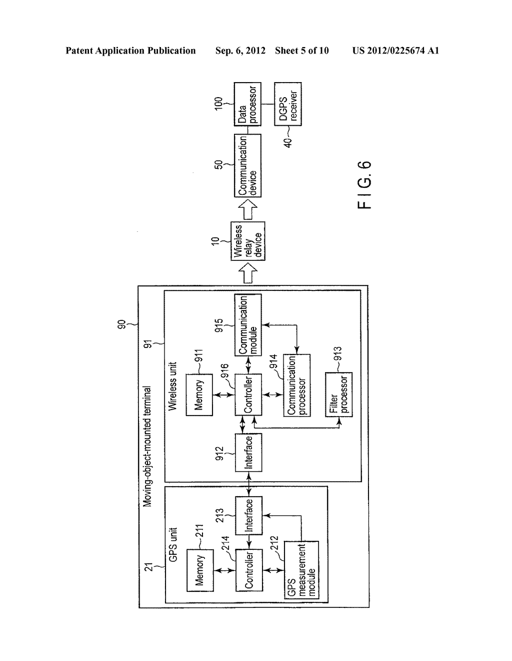 MEASUREMENT SYSTEM, MOVING-OBJECT-MOUNTED TERMINAL AND DATA PROCESSING     APPARATUS - diagram, schematic, and image 06