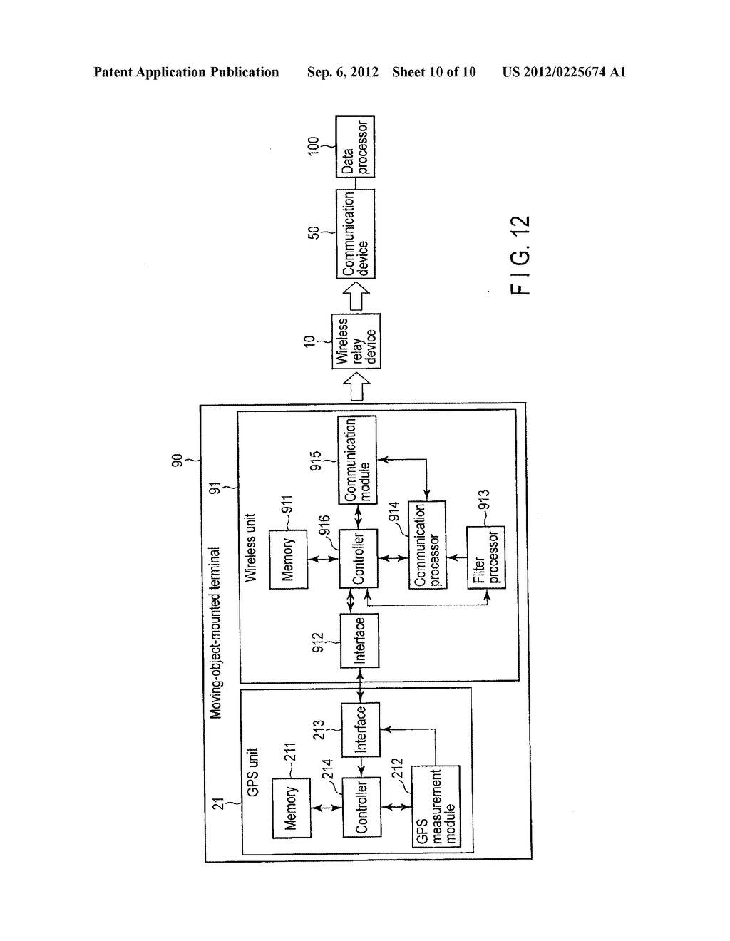 MEASUREMENT SYSTEM, MOVING-OBJECT-MOUNTED TERMINAL AND DATA PROCESSING     APPARATUS - diagram, schematic, and image 11