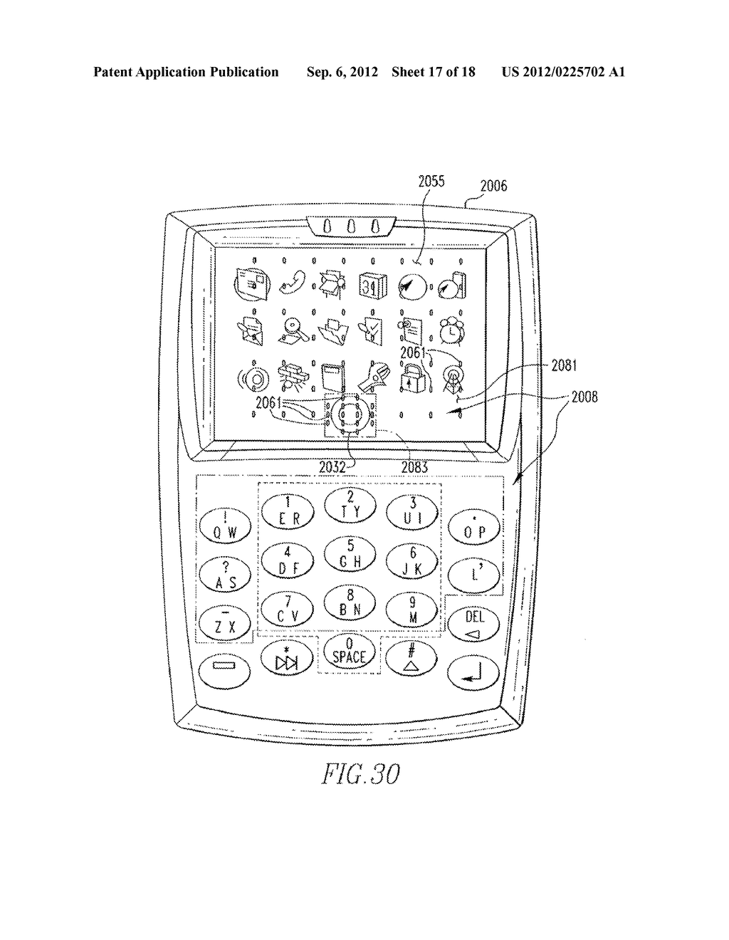 HANDHELD ELECTRONIC DEVICE THAT HAS A KEYPAD WHICH CAN BE RENDERED     INEFFECTIVE, AND ASSOCIATED METHOD - diagram, schematic, and image 18