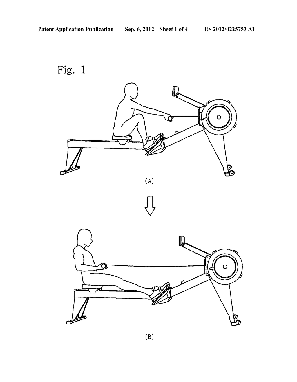 Rowing Machine Exercise-Assisting Device - diagram, schematic, and ...