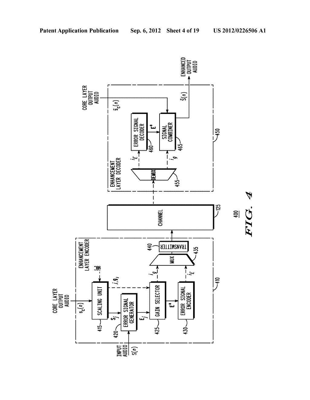 METHOD AND APPARATUS FOR GENERATING AN ENHANCEMENT LAYER WITHIN A     MULTIPLE-CHANNEL AUDIO CODING SYSTEM - diagram, schematic, and image 05