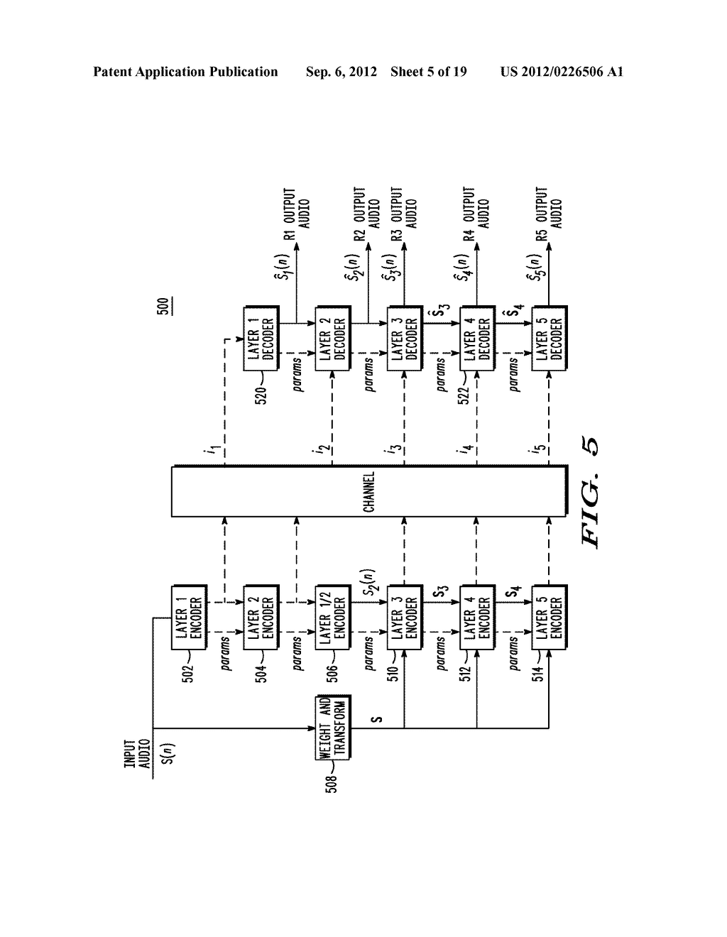 METHOD AND APPARATUS FOR GENERATING AN ENHANCEMENT LAYER WITHIN A     MULTIPLE-CHANNEL AUDIO CODING SYSTEM - diagram, schematic, and image 06