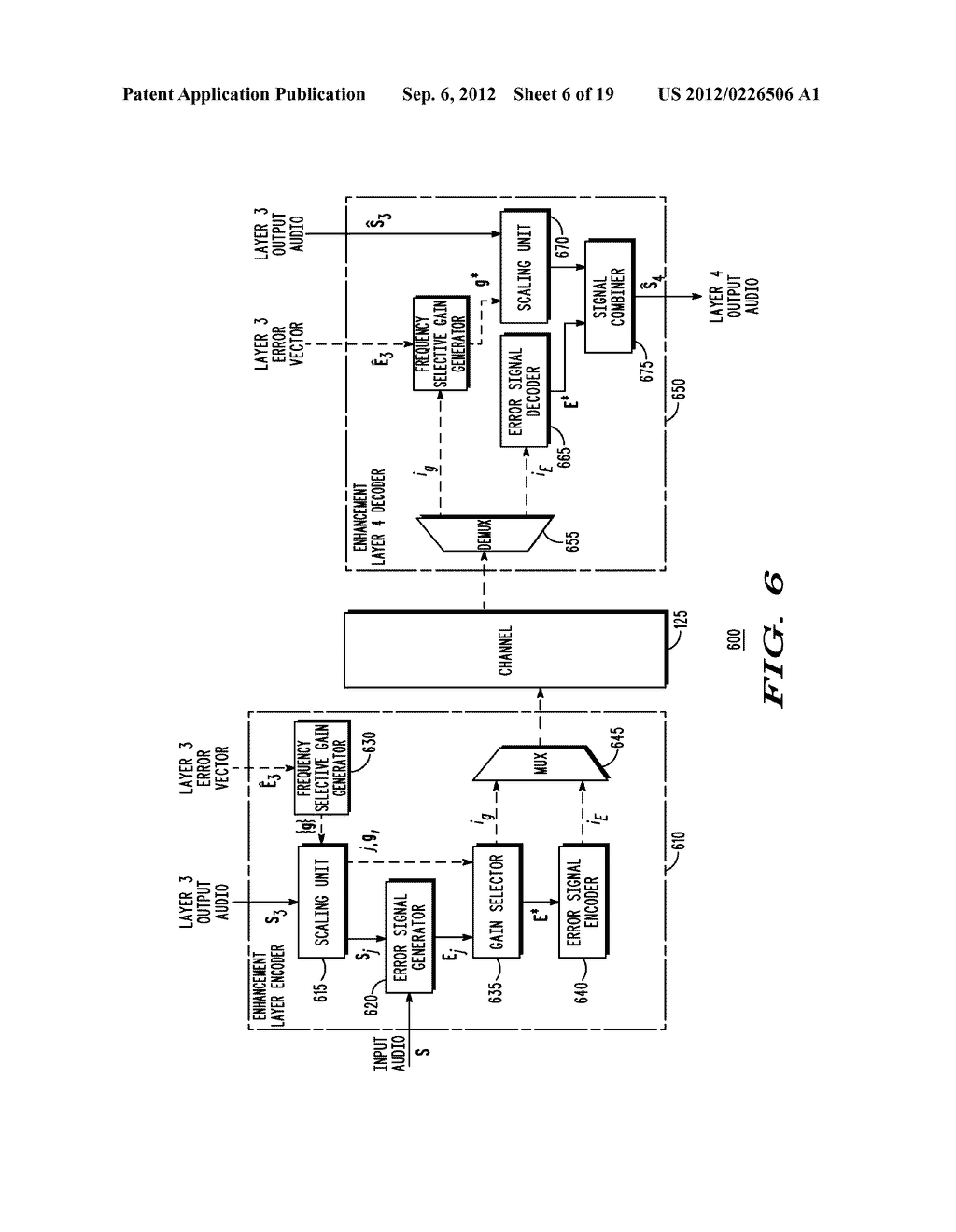 METHOD AND APPARATUS FOR GENERATING AN ENHANCEMENT LAYER WITHIN A     MULTIPLE-CHANNEL AUDIO CODING SYSTEM - diagram, schematic, and image 07