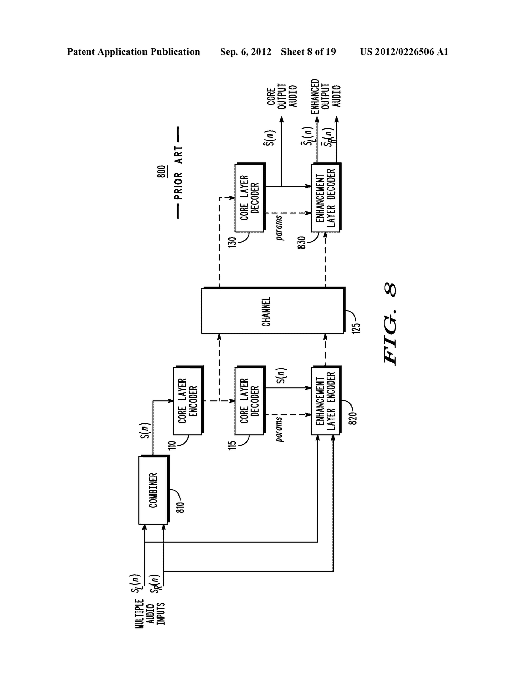 METHOD AND APPARATUS FOR GENERATING AN ENHANCEMENT LAYER WITHIN A     MULTIPLE-CHANNEL AUDIO CODING SYSTEM - diagram, schematic, and image 09