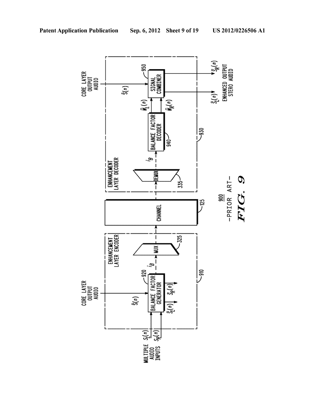 METHOD AND APPARATUS FOR GENERATING AN ENHANCEMENT LAYER WITHIN A     MULTIPLE-CHANNEL AUDIO CODING SYSTEM - diagram, schematic, and image 10