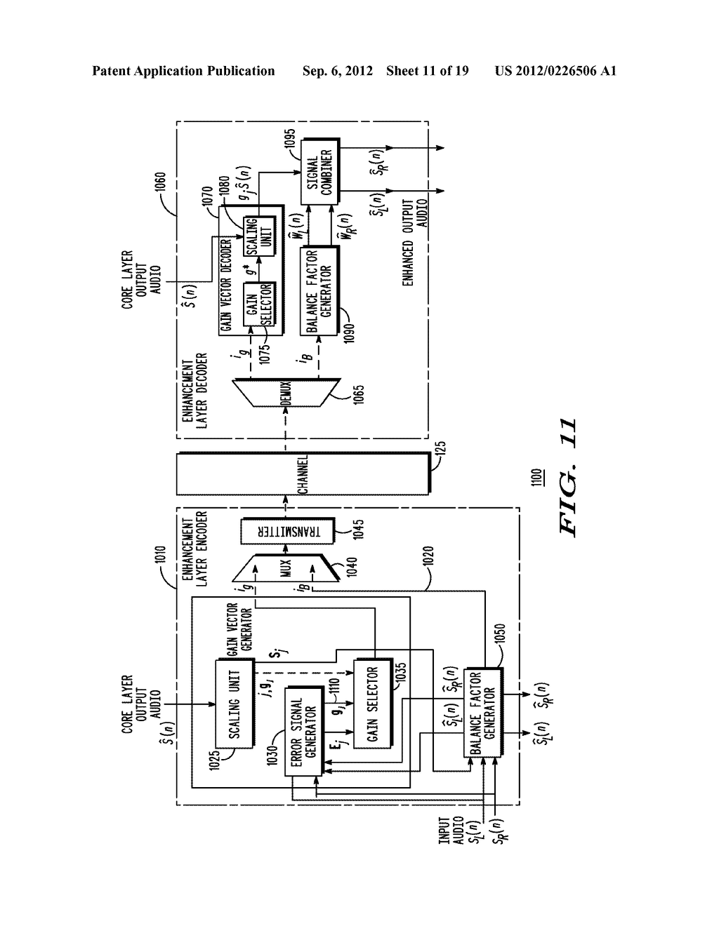 METHOD AND APPARATUS FOR GENERATING AN ENHANCEMENT LAYER WITHIN A     MULTIPLE-CHANNEL AUDIO CODING SYSTEM - diagram, schematic, and image 12
