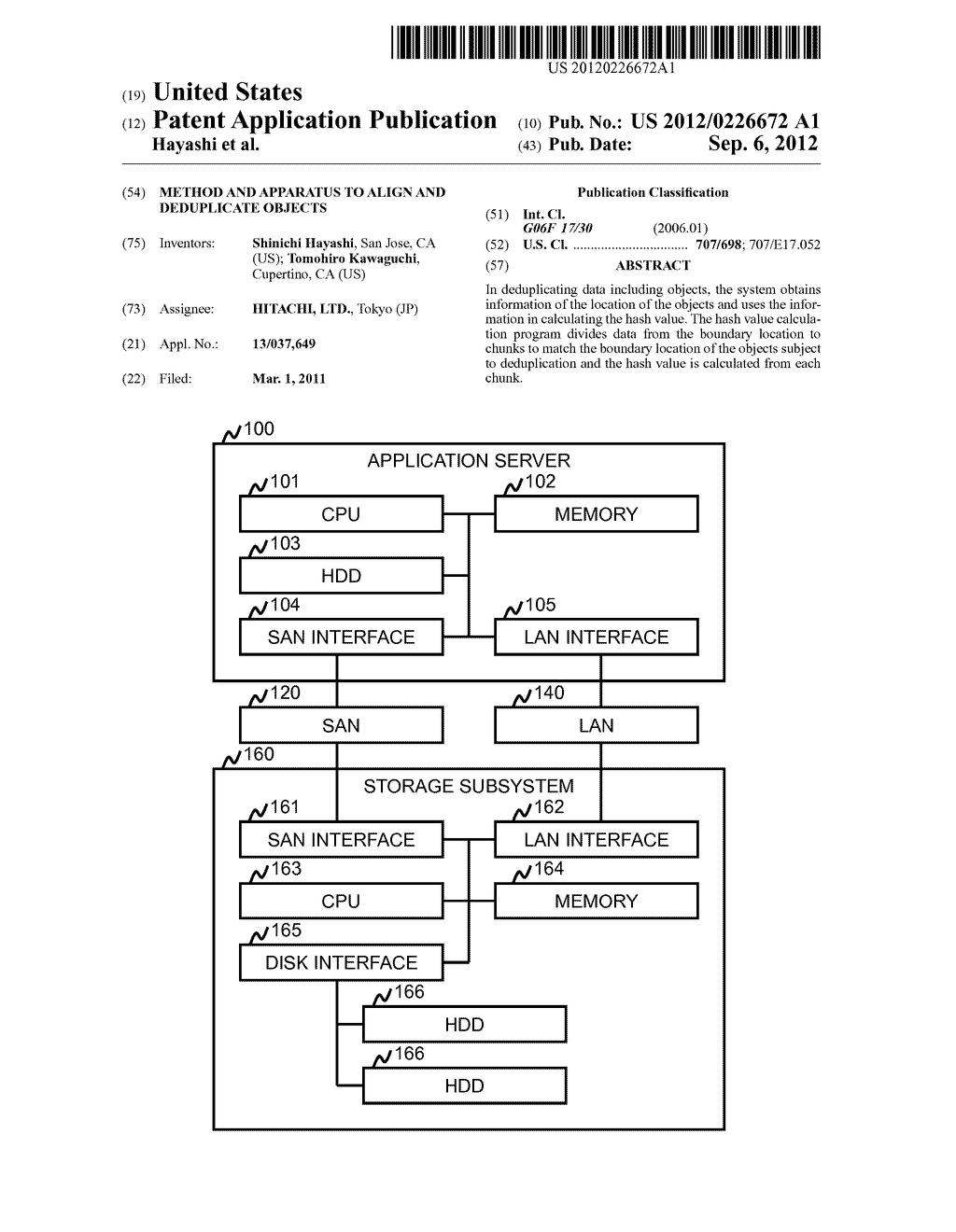 Method and Apparatus to Align and Deduplicate Objects - diagram, schematic, and image 01