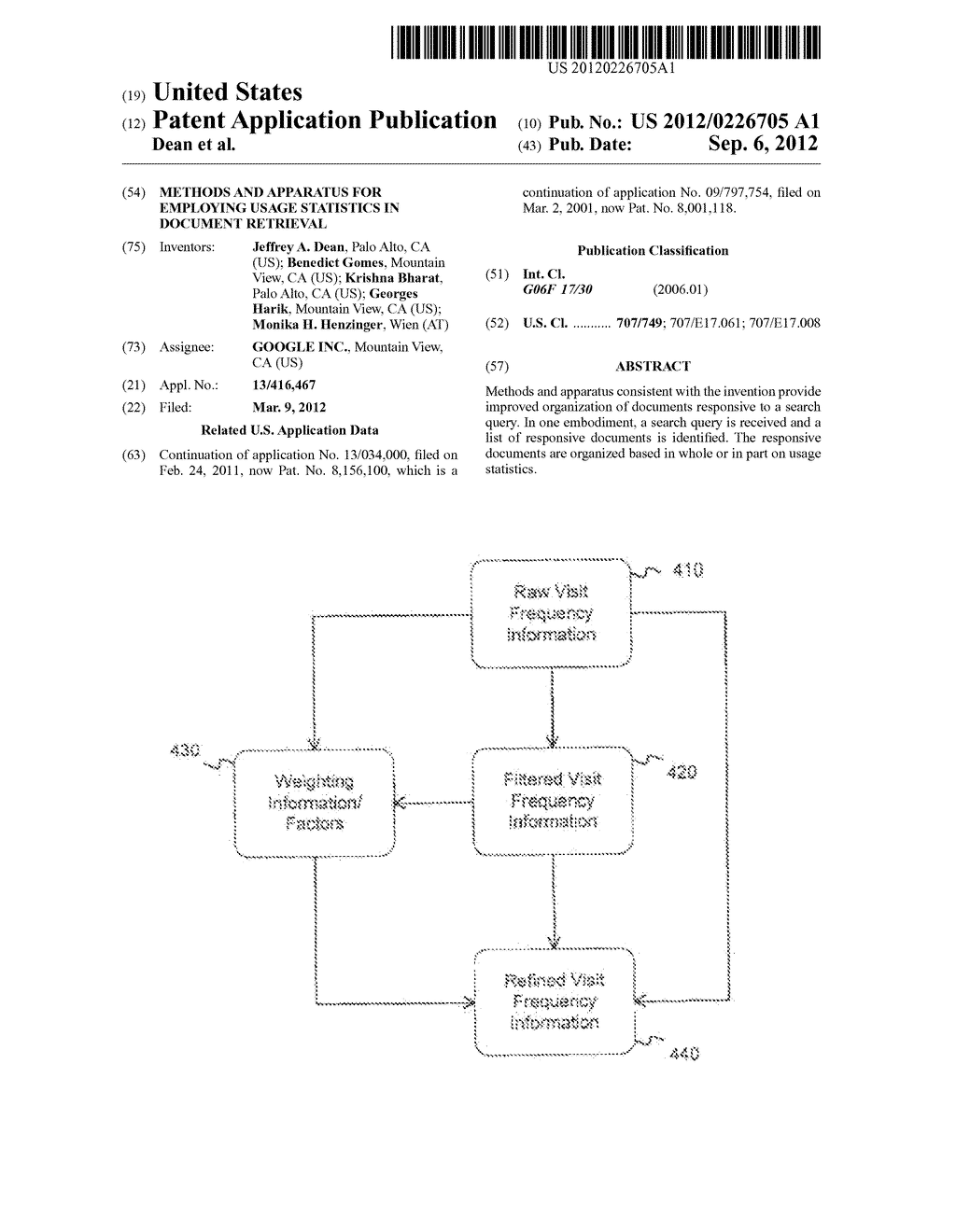 METHODS AND APPARATUS FOR EMPLOYING USAGE STATISTICS IN DOCUMENT RETRIEVAL - diagram, schematic, and image 01