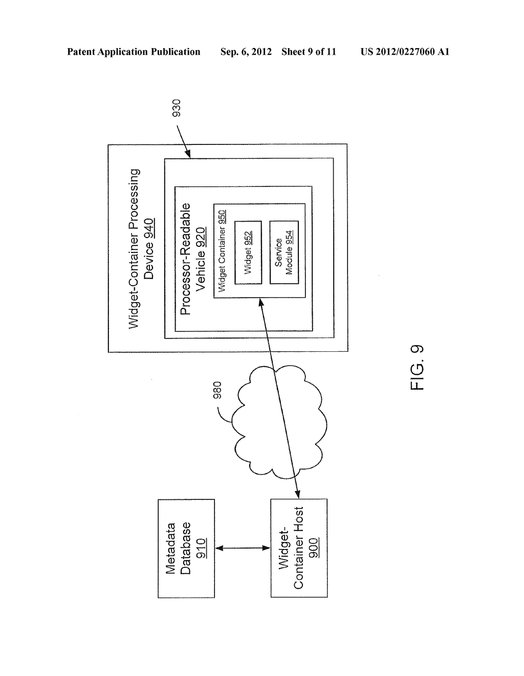 METHOD AND APPARATUS FOR WIDGET-CONTAINER HOSTING AND GENERATION - diagram, schematic, and image 10