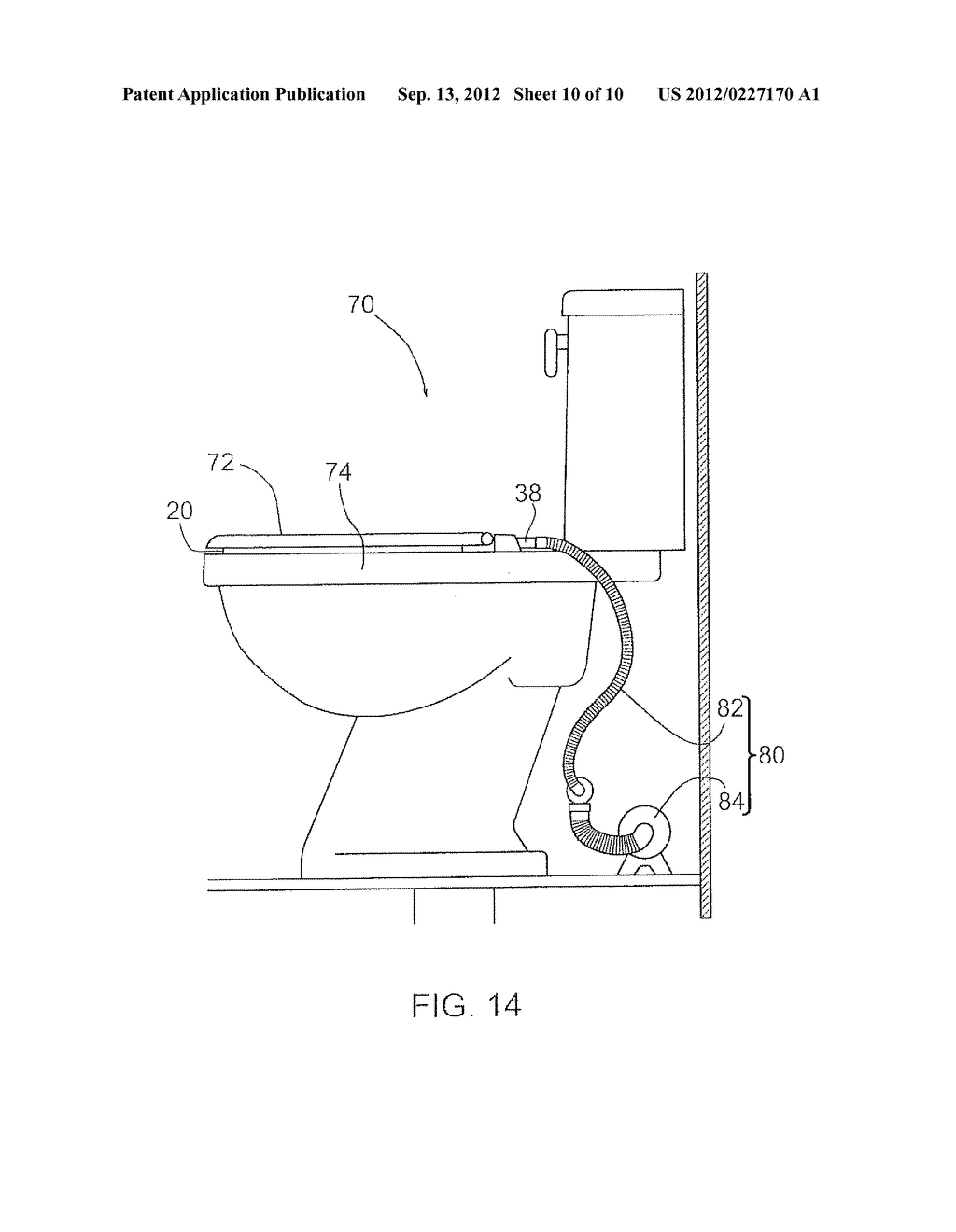 VENTING ATTACHMENT FOR USE WITH A TOILET - diagram, schematic, and ...