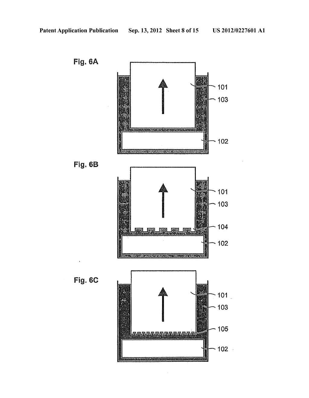 STAMP WITH DRAINAGE CHANNELS FOR TRANSFERRING A PATTERN IN THE PRESENCE OF     A THIRD MEDIUM - diagram, schematic, and image 09