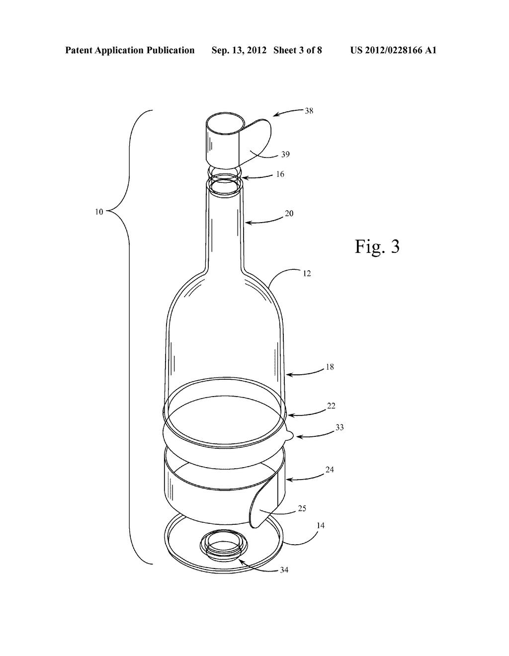 single serve combination wine bottle and wine glass diagram rh patentsencyclopedia com Bottle Beer Glass Diagram Bottle Beer Glass Diagram