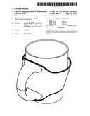 Reusable Beverage Container Insulator and Handle diagram and image