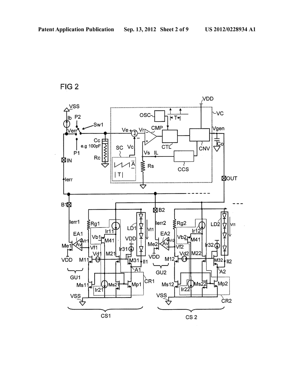 Multi-Current Source and Method for Regulating Current - diagram, schematic, and image 03