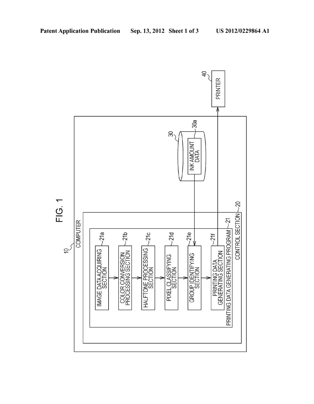 PRINTING DATA GENERATING APPARATUS, PRINTING DATA GENERATING METHOD, AND     PRINTING DATA GENERATING PROGRAM - diagram, schematic, and image 02