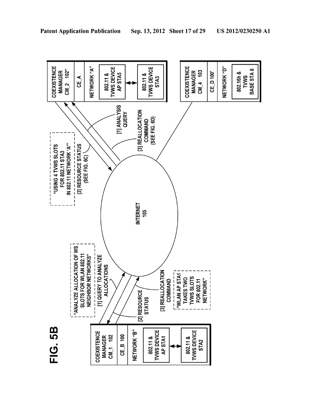 METHOD, APPARATUS AND COMPUTER PROGRAM FOR CONTROLLING COEXISTENCE BETWEEN     WIRELESS NETWORKS - diagram, schematic, and image 18