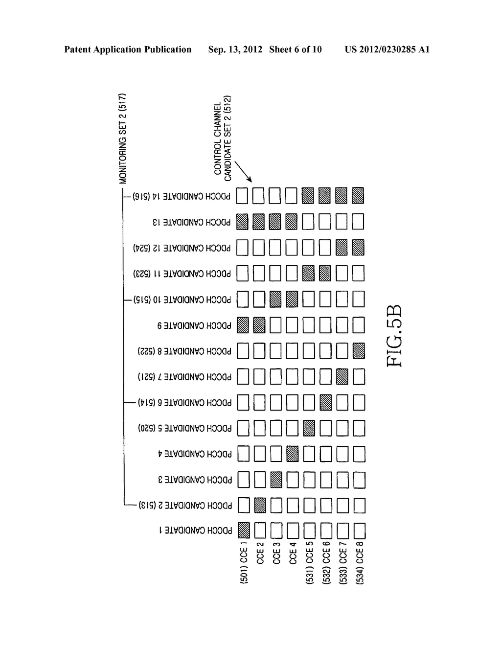 METHOD AND APPARATUS FOR TRANSMITTING AND RECEIVING CONTROL CHANNELS BY     RESTRICTING A SET OF THE CONTROL CHANNELS IN A WIRELESS COMMUNICATION     SYSTEM - diagram, schematic, and image 07