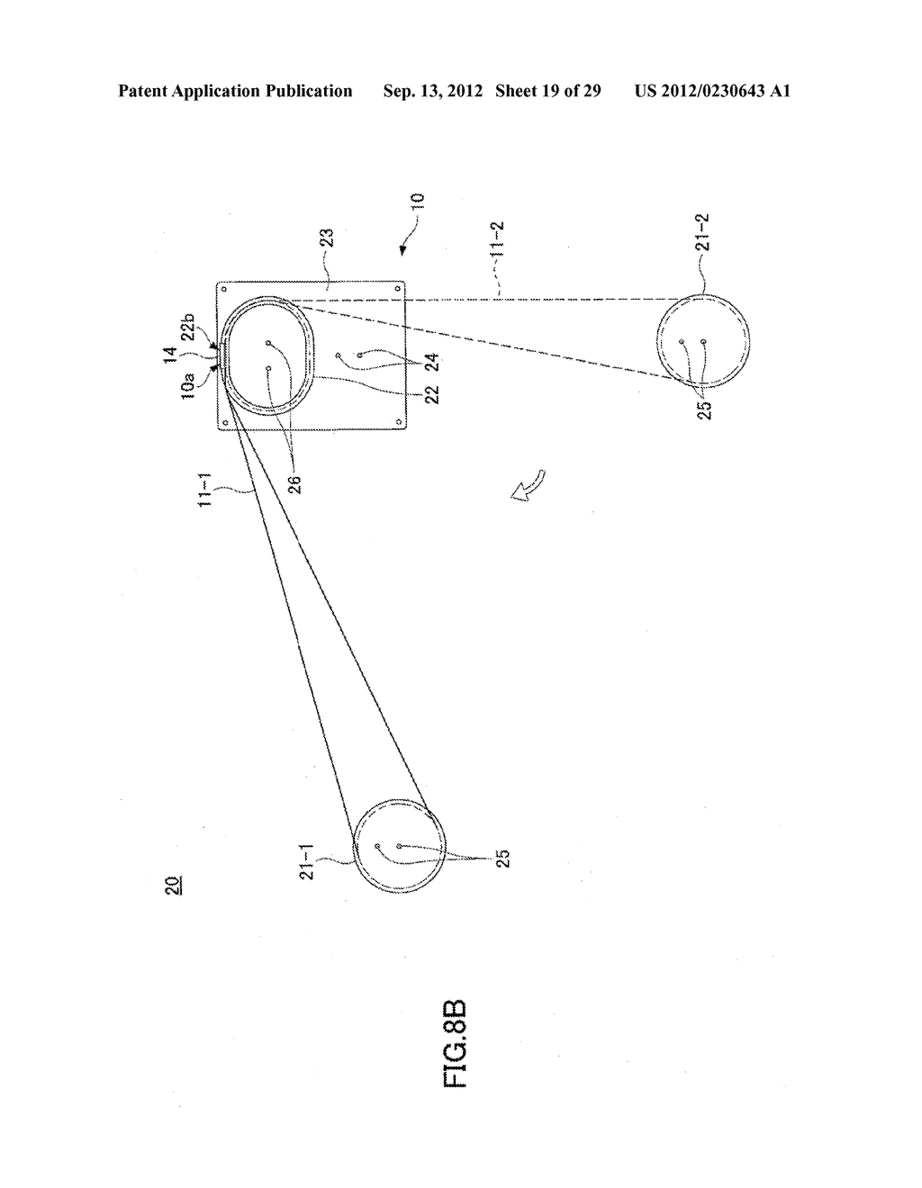 OPTICAL FIBER HOLDER, OPTICAL DEVICE USING THE SAME, AND METHOD FOR     STOWING SURPLUS LENGTH OF OPTICAL FIBER - diagram, schematic, and image 20
