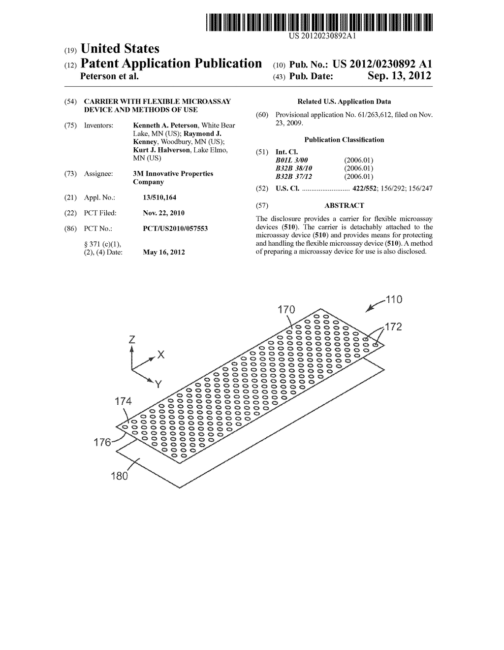 CARRIER WITH FLEXIBLE MICROASSAY DEVICE AND METHODS OF USE - diagram, schematic, and image 01