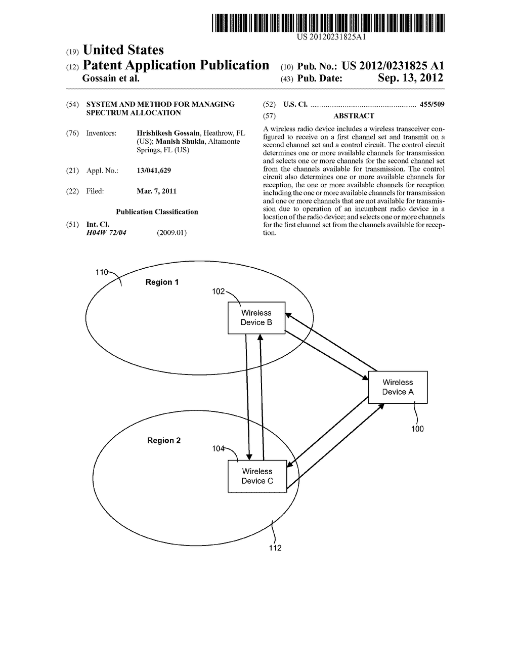SYSTEM AND METHOD FOR MANAGING SPECTRUM ALLOCATION - diagram, schematic, and image 01