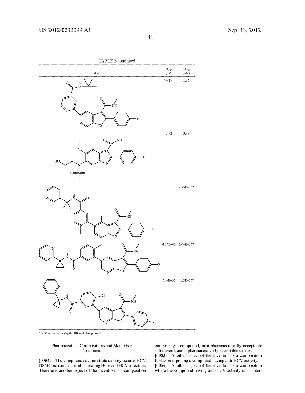 Compounds for the Treatment of Hepatitis C - diagram, schematic, and image 42
