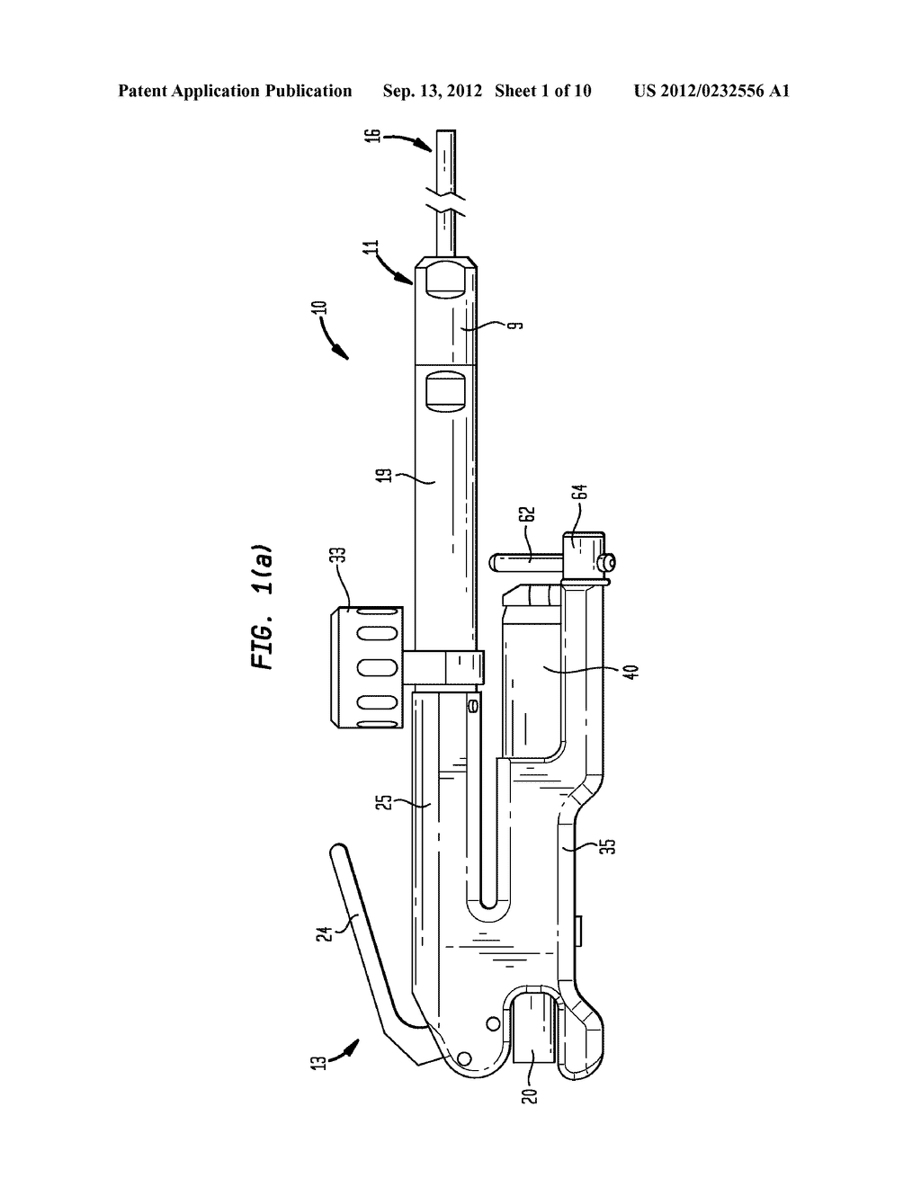 Pneumatic Surgical Instrument and Corresponding Methods for Penetrating,     Resecting and Microfracturing Bone - diagram, schematic, and image 02