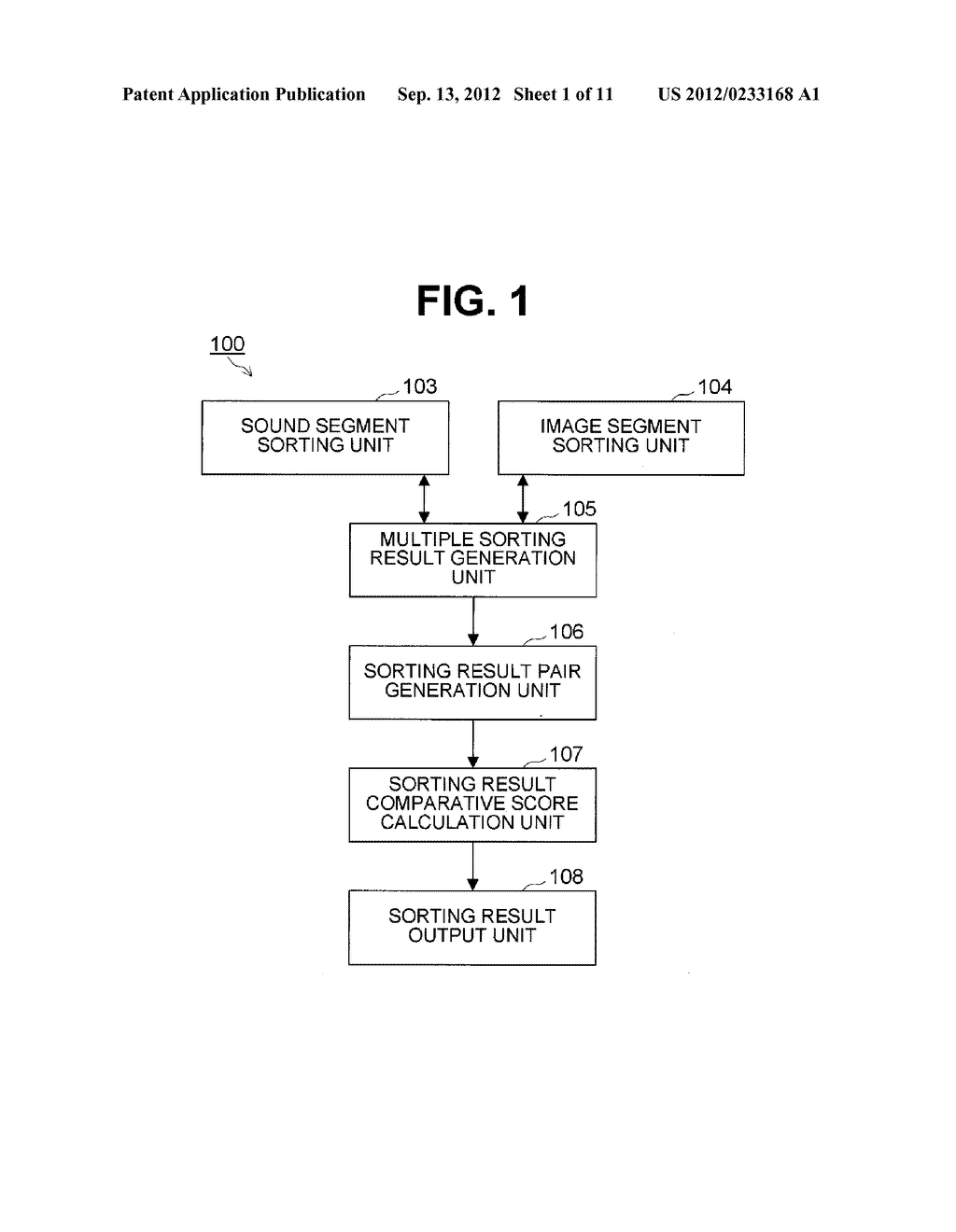 SOUND AND IMAGE SEGMENT SORTING DEVICE AND METHOD - diagram, schematic, and image 02