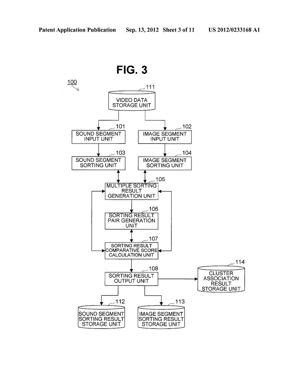 SOUND AND IMAGE SEGMENT SORTING DEVICE AND METHOD - diagram, schematic, and image 04