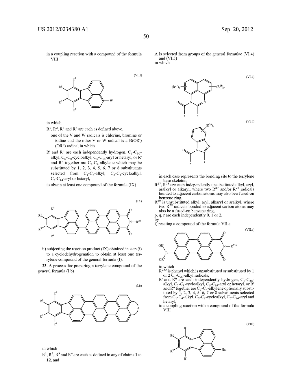 TERRYLENE COMPOUNDS, PREPARATION THEREOF AND USE THEREOF IN ORGANIC SOLAR     CELLS - diagram, schematic, and image 52