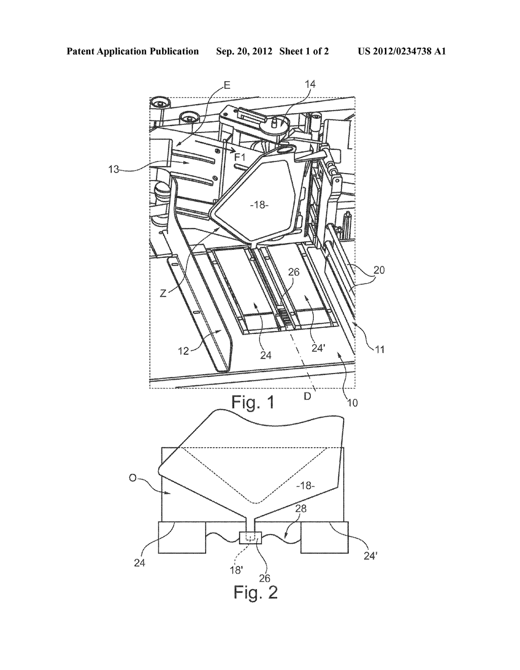 STACKER DEVICE FOR STACKING FLAT ARTICLES ON EDGE, AND A POSTAL SORTING     MACHINE EQUIPPED WITH AT LEAST ONE SUCH DEVICE - diagram, schematic, and image 02