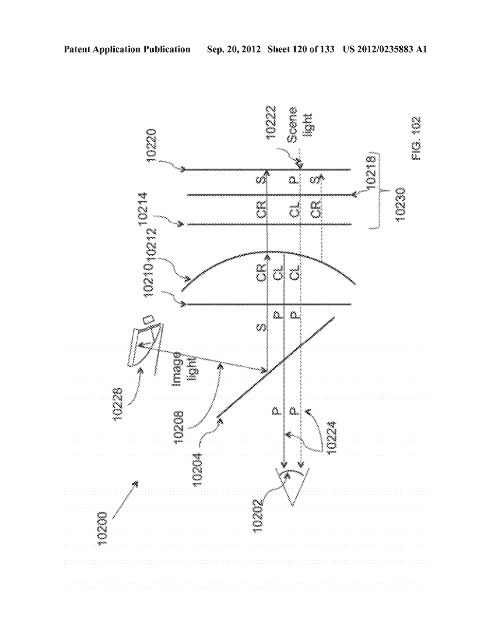 SEE-THROUGH NEAR-EYE DISPLAY GLASSES WITH A LIGHT TRANSMISSIVE WEDGE     SHAPED ILLUMINATION SYSTEM - diagram, schematic, and image 121