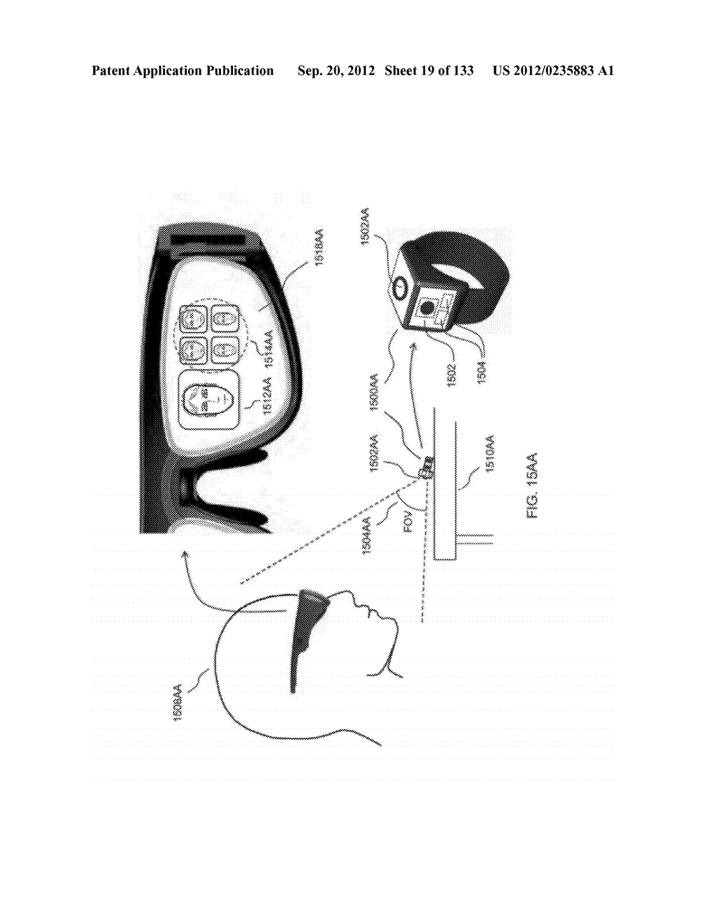 SEE-THROUGH NEAR-EYE DISPLAY GLASSES WITH A LIGHT TRANSMISSIVE WEDGE     SHAPED ILLUMINATION SYSTEM - diagram, schematic, and image 20