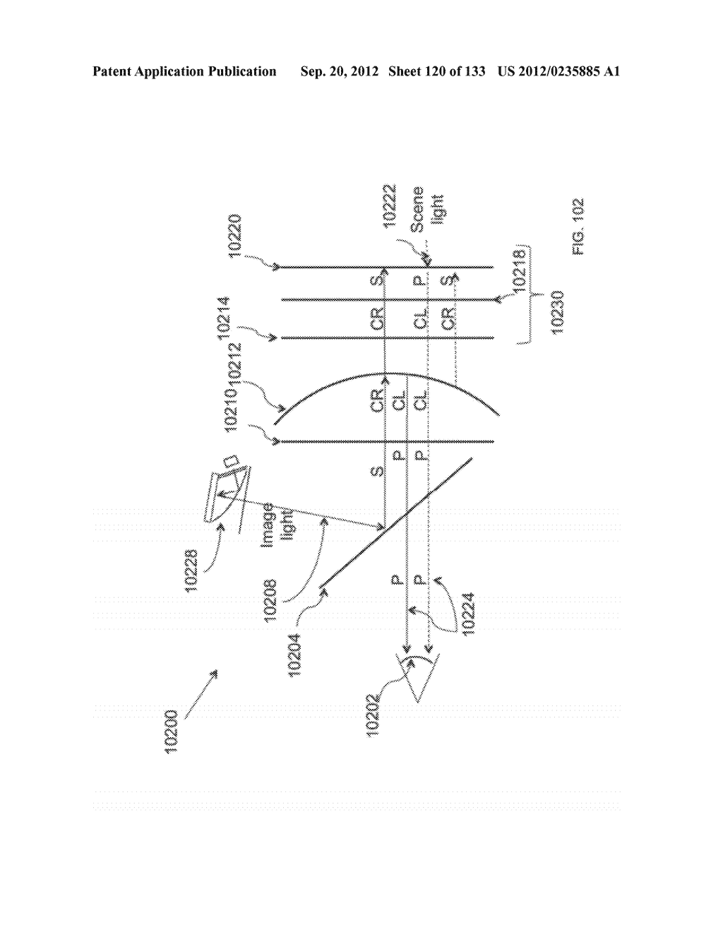 GRATING IN A LIGHT TRANSMISSIVE ILLUMINATION SYSTEM FOR SEE-THROUGH     NEAR-EYE DISPLAY GLASSES - diagram, schematic, and image 121
