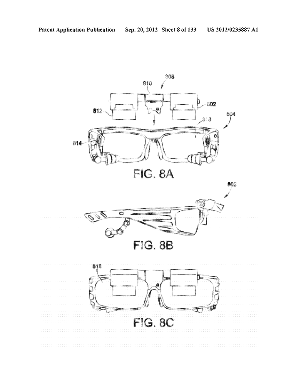 SEE-THROUGH NEAR-EYE DISPLAY GLASSES INCLUDING A PARTIALLY REFLECTIVE,     PARTIALLY TRANSMITTING OPTICAL ELEMENT AND AN OPTICALLY FLAT FILM - diagram, schematic, and image 09
