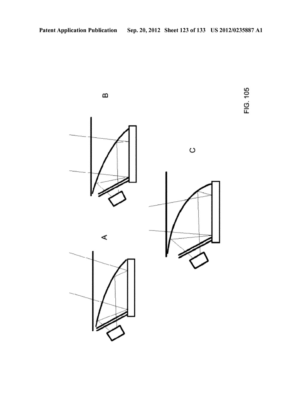 SEE-THROUGH NEAR-EYE DISPLAY GLASSES INCLUDING A PARTIALLY REFLECTIVE,     PARTIALLY TRANSMITTING OPTICAL ELEMENT AND AN OPTICALLY FLAT FILM - diagram, schematic, and image 124