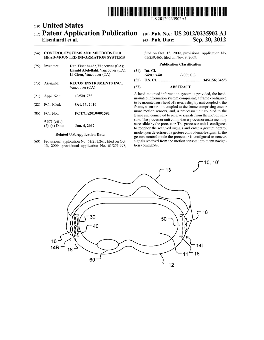 CONTROL SYSTEMS AND METHODS FOR HEAD-MOUNTED INFORMATION SYSTEMS - diagram, schematic, and image 01