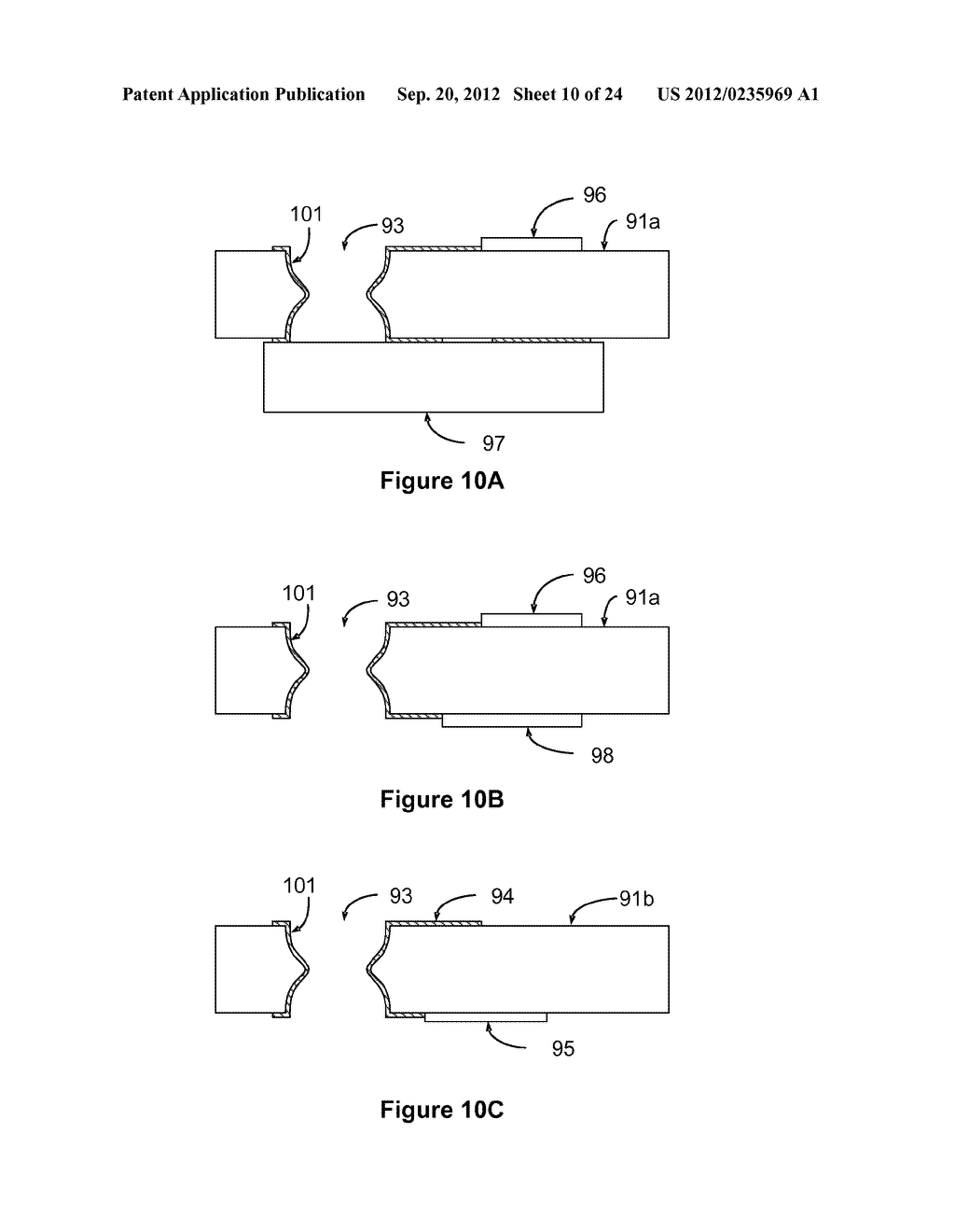 THIN FILM THROUGH-GLASS VIA AND METHODS FOR FORMING SAME - diagram, schematic, and image 11