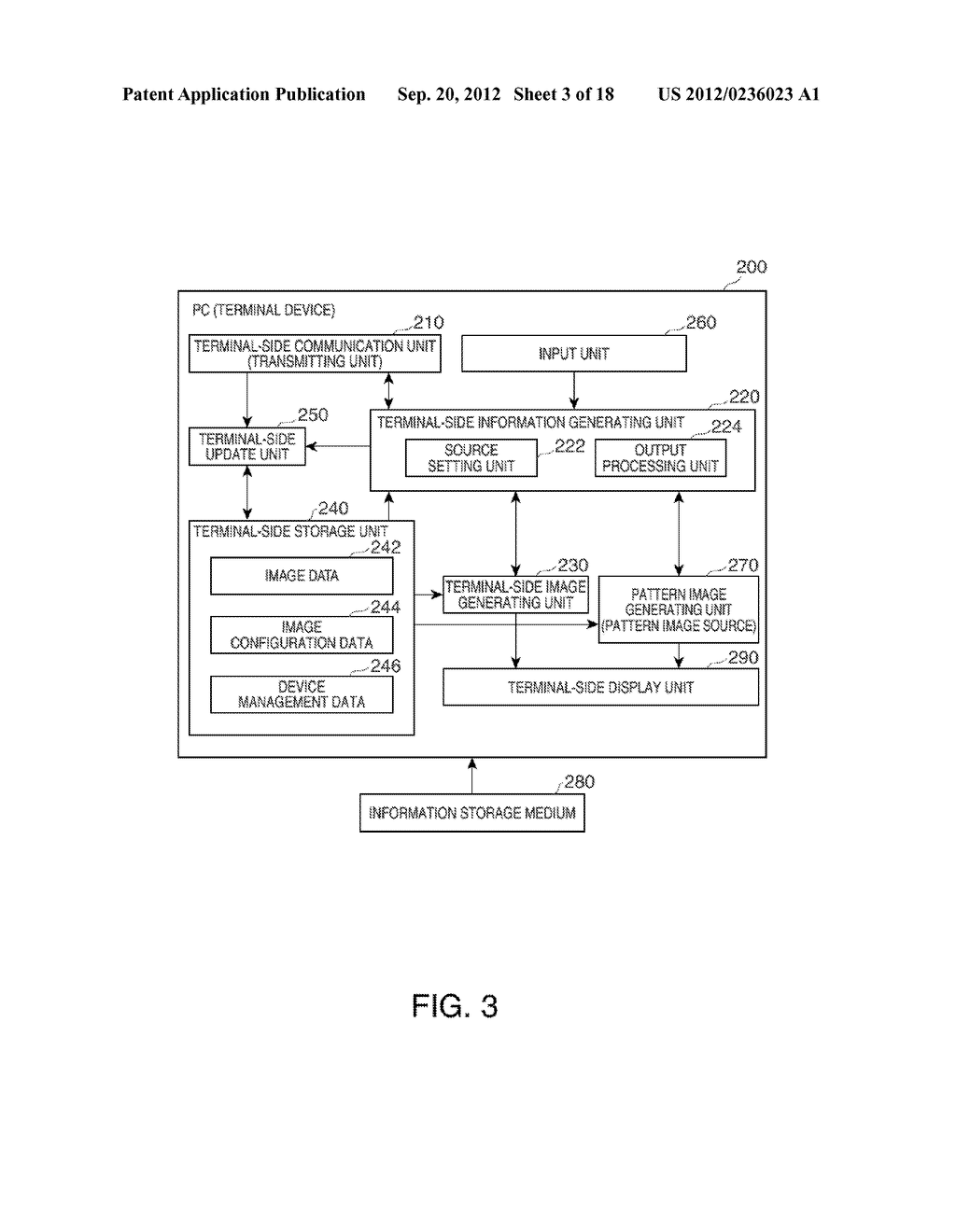 INFORMATION STORAGE MEDIUM, TERMINAL DEVICE, DISPLAY SYSTEM, AND A METHOD     FOR CONTROLLING A TERMINAL DEVICE - diagram, schematic, and image 04
