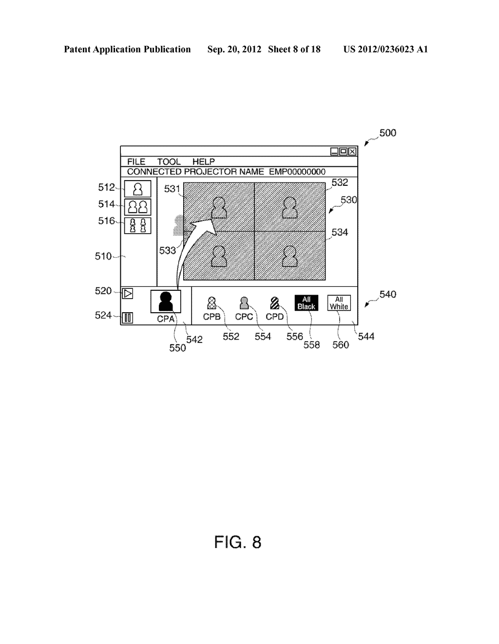 INFORMATION STORAGE MEDIUM, TERMINAL DEVICE, DISPLAY SYSTEM, AND A METHOD     FOR CONTROLLING A TERMINAL DEVICE - diagram, schematic, and image 09