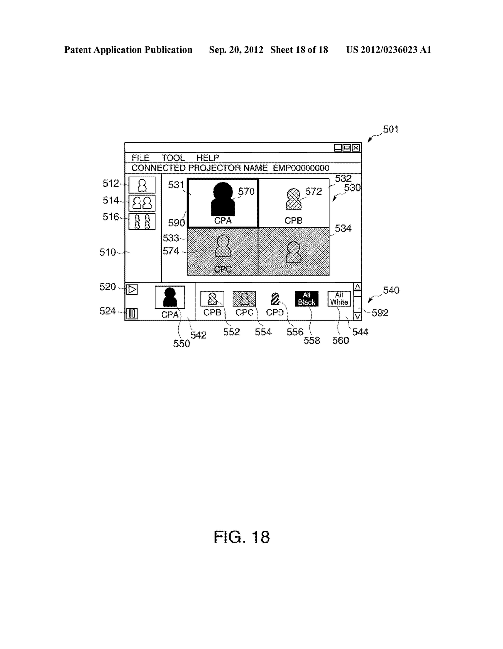 INFORMATION STORAGE MEDIUM, TERMINAL DEVICE, DISPLAY SYSTEM, AND A METHOD     FOR CONTROLLING A TERMINAL DEVICE - diagram, schematic, and image 19