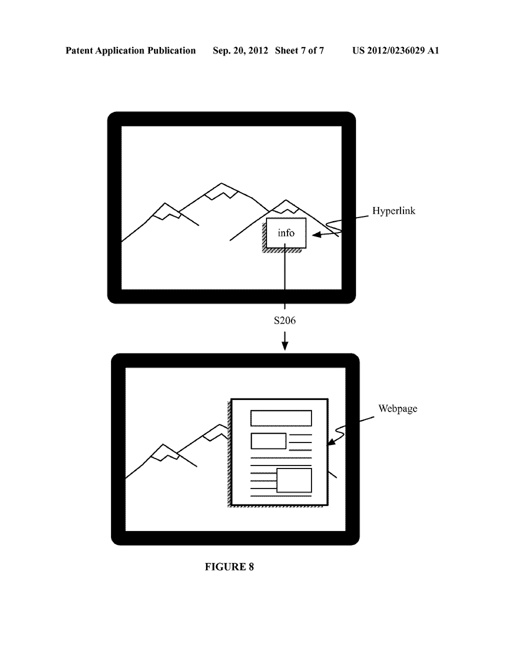 SYSTEM AND METHOD FOR EMBEDDING AND VIEWING MEDIA FILES WITHIN A VIRTUAL     AND AUGMENTED REALITY SCENE - diagram, schematic, and image 08
