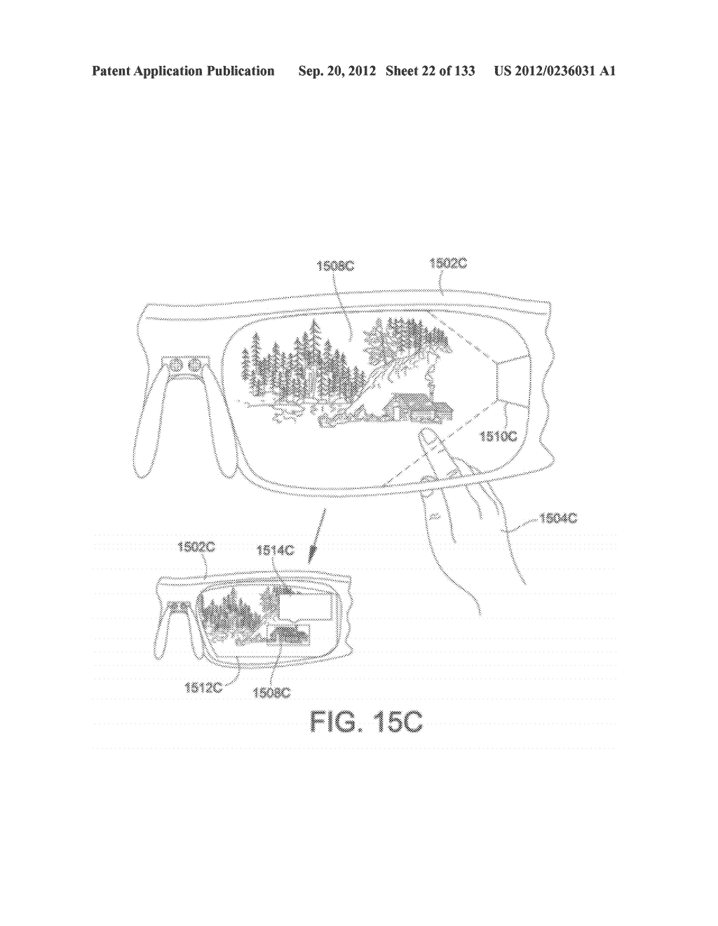 SYSTEM AND METHOD FOR DELIVERING CONTENT TO A GROUP OF SEE-THROUGH NEAR     EYE DISPLAY EYEPIECES - diagram, schematic, and image 23