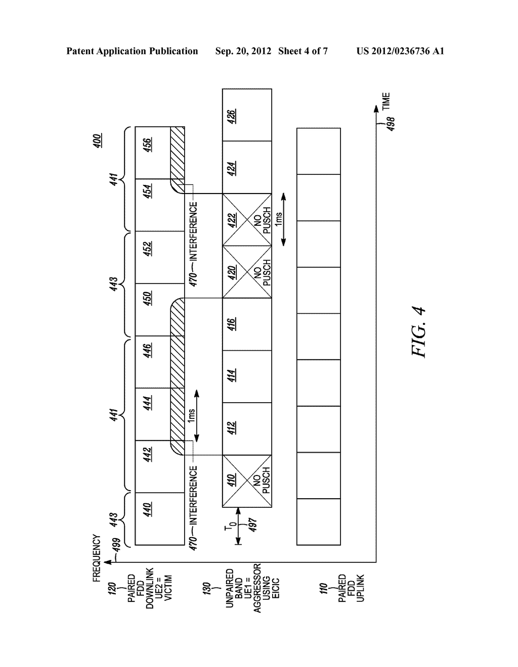 Method and Apparatus for Multi-Radio Coexistence with a System on an     Adjacent Frequency Band Having a Time-Dependent Configuration - diagram, schematic, and image 05