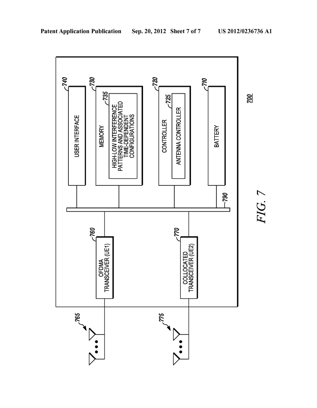 Method and Apparatus for Multi-Radio Coexistence with a System on an     Adjacent Frequency Band Having a Time-Dependent Configuration - diagram, schematic, and image 08